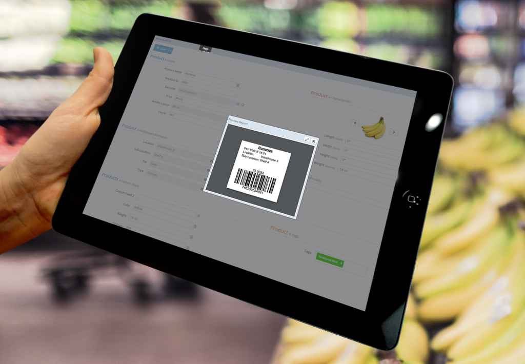 Barcoding Label in Dynamic Inventory Software